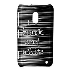 I Love Black And White Nokia Lumia 620