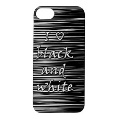 I love black and white Apple iPhone 5S/ SE Hardshell Case