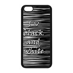 I love black and white Apple iPhone 5C Seamless Case (Black) Front