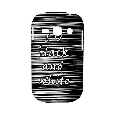 I love black and white Samsung Galaxy S6810 Hardshell Case