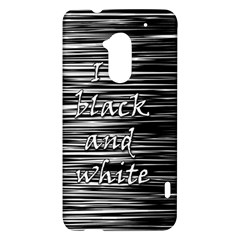 I love black and white HTC One Max (T6) Hardshell Case