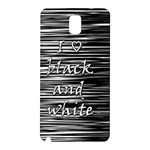 I love black and white Samsung Galaxy Note 3 N9005 Hardshell Back Case Front