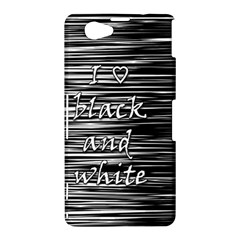 I love black and white Sony Xperia Z1 Compact