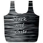 I love black and white Full Print Recycle Bags (L)  Front