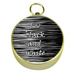 I love black and white Gold Compasses Front