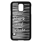 I love black and white Samsung Galaxy S5 Case (Black) Front