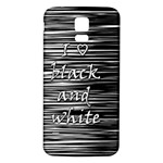 I love black and white Samsung Galaxy S5 Back Case (White) Front
