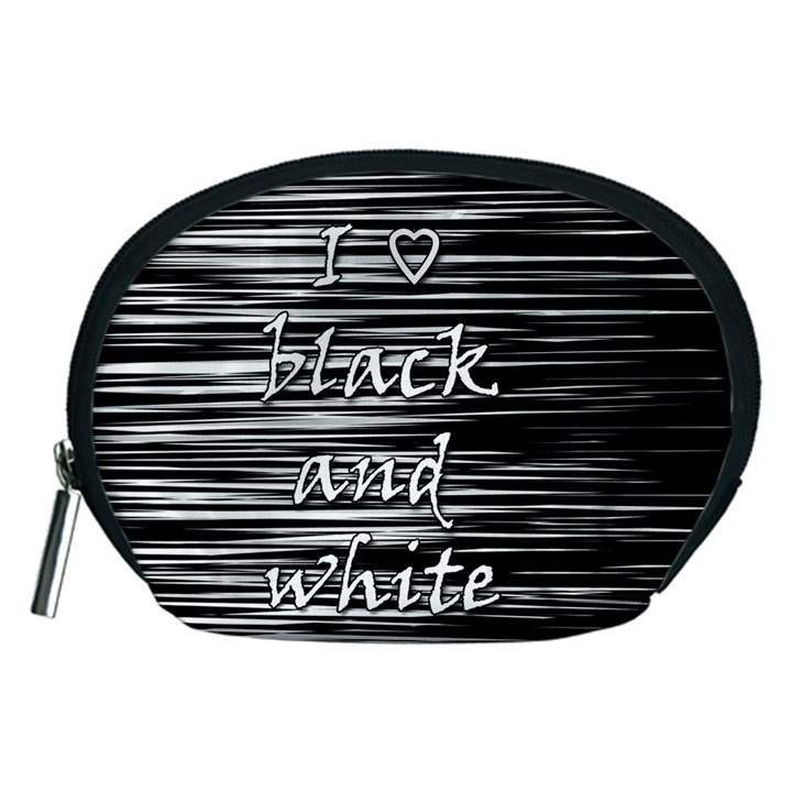 I love black and white Accessory Pouches (Medium)