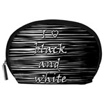 I love black and white Accessory Pouches (Large)  Front