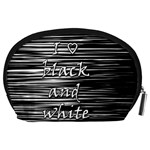 I love black and white Accessory Pouches (Large)  Back