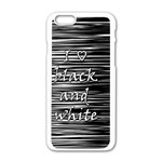 I love black and white Apple iPhone 6/6S White Enamel Case Front