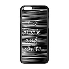 I love black and white Apple iPhone 6/6S Black Enamel Case