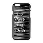 I love black and white Apple iPhone 6/6S Black Enamel Case Front