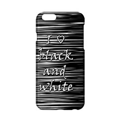 I Love Black And White Apple Iphone 6/6s Hardshell Case