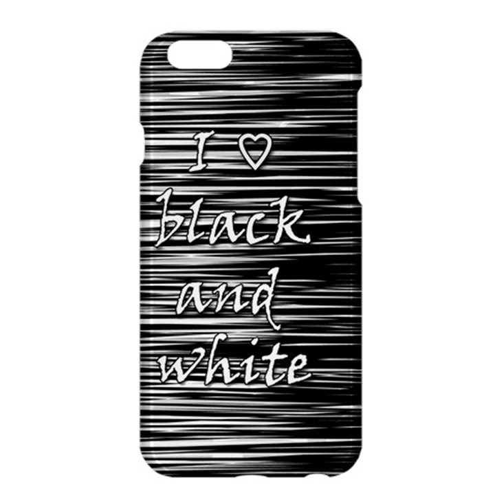 I love black and white Apple iPhone 6 Plus/6S Plus Hardshell Case