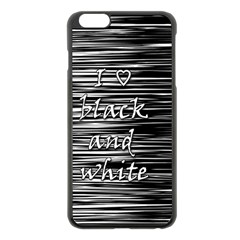 I Love Black And White Apple Iphone 6 Plus/6s Plus Black Enamel Case