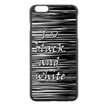 I love black and white Apple iPhone 6 Plus/6S Plus Black Enamel Case Front