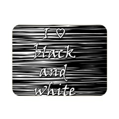 I love black and white Double Sided Flano Blanket (Mini)