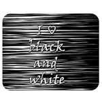 I love black and white Double Sided Flano Blanket (Medium)  60 x50 Blanket Back