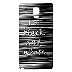 I love black and white Galaxy Note 4 Back Case