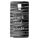 I love black and white Galaxy Note 4 Back Case Front