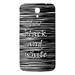 I love black and white Samsung Galaxy Mega I9200 Hardshell Back Case Front