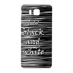 I love black and white Samsung Galaxy Alpha Hardshell Back Case Front
