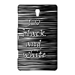 I Love Black And White Samsung Galaxy Tab S (8 4 ) Hardshell Case