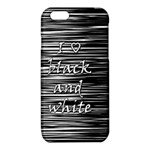 I love black and white iPhone 6/6S TPU Case Front