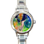 New Form Technology Round Italian Charm Watch Front