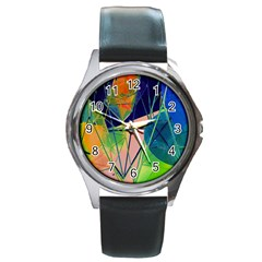 New Form Technology Round Metal Watch