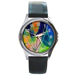 New Form Technology Round Metal Watch Front
