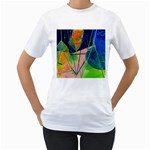 New Form Technology Women s T-Shirt (White) (Two Sided) Front