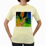 New Form Technology Women s Yellow T-Shirt Front