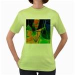 New Form Technology Women s Green T-Shirt Front