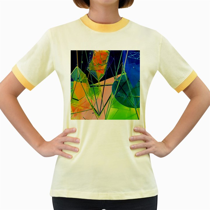 New Form Technology Women s Fitted Ringer T-Shirts