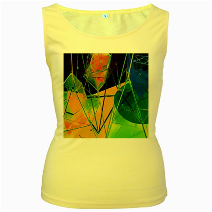New Form Technology Women s Yellow Tank Top