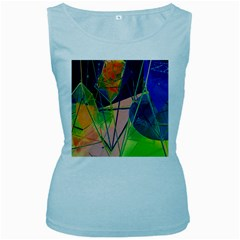New Form Technology Women s Baby Blue Tank Top