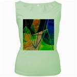 New Form Technology Women s Green Tank Top Front