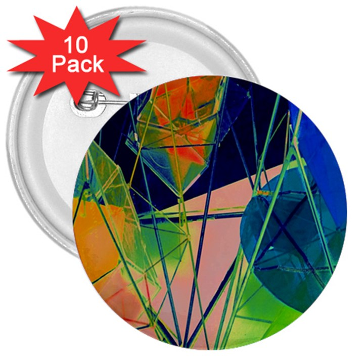 New Form Technology 3  Buttons (10 pack)