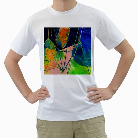 New Form Technology Men s T-Shirt (White) (Two Sided)