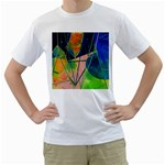 New Form Technology Men s T-Shirt (White) (Two Sided) Front