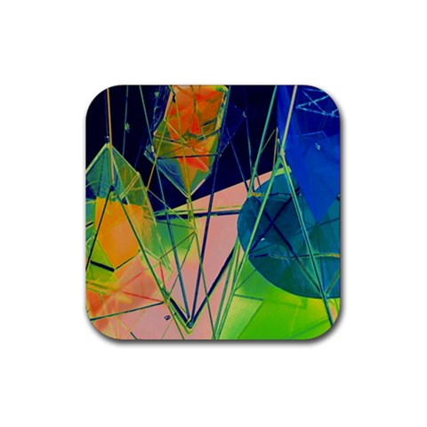 New Form Technology Rubber Square Coaster (4 pack)