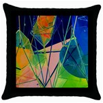 New Form Technology Throw Pillow Case (Black) Front