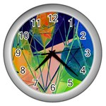 New Form Technology Wall Clocks (Silver)  Front