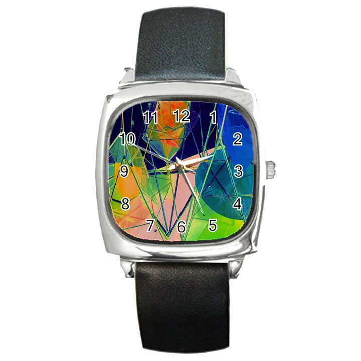 New Form Technology Square Metal Watch