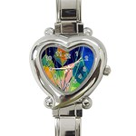 New Form Technology Heart Italian Charm Watch Front