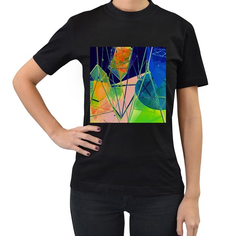 New Form Technology Women s T-Shirt (Black) (Two Sided)