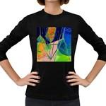 New Form Technology Women s Long Sleeve Dark T-Shirts Front