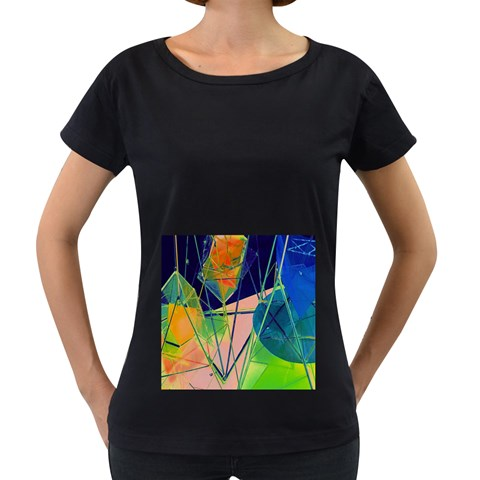 New Form Technology Women s Loose-Fit T-Shirt (Black)